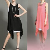 Women Blouse Loose Vest Dress t Shirt Long Tops Summer Casual Wear Shirt Dress