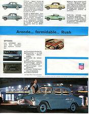 brochure,DEPLIANT VINTAGE ANNI 50,Aronde Simca,AUTO CAR,