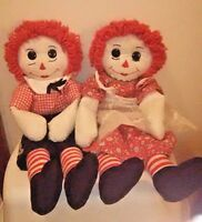 VTG Raggedy Ann And Andy Dolls Handmade CHC Chapter 20""