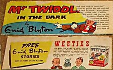 WEETIES AUSTRALIA CEREAL GIVEAWAY PROMO ENID BLYTON MR TWIDDLE IN THE DARK COMIC