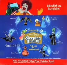 1997 McDonalds Sleeping Beauty MIP Complete Set - Lot of 6, Boys & Girls, 3+
