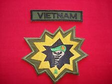 2 Vietnam War Patches: VIETNAM + 5th Special Forces Group MACV-SOG Company A