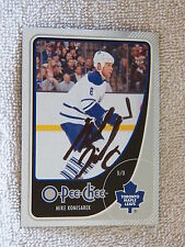 Toronto Maple Leafs Mike Komisarek Signed 10/11 O-Pee-Chee Card Auto