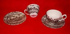 EX Lot 2 ROYAL MAIL staffordshire Brown CUP & SAUCER sets