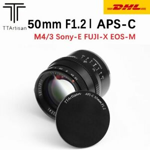 TTartisan 50mm F1.2 APS-C Large Aperture MF Lens For Fuji X Mount Sony E M4/3