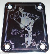 NECK PLATE Custom  - Limited edition chrome pour guitare ou basse