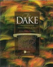 KJV Dake Annotated Reference Bible Genuine Burgundy Leather Compact Edition NEW