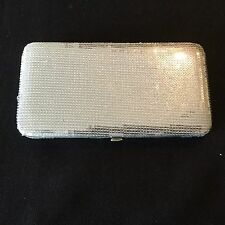 Forever 21 Clutch Organizer Ladies Evening Bag For Party & Bridal Snap Closure .