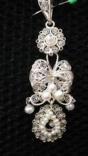 Sterling Filigree Charm with pearls