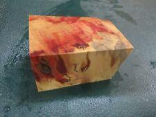 FF- FLAME BOX ELDER BURL  DELUXE KNIFE BLOCK/SCALES/ CALLS/ PEN BLANKS--F--48