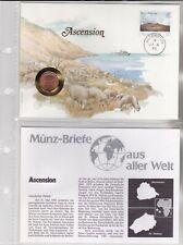 Numisbriefe aus aller Welt - Ascension - und Infokarte