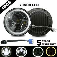 """Chrome 7"""" Inch LED Headlight Round HI/LO Sealed Beam for Chevy Pickup Truck"""