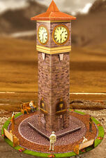 1:64 Scale Slot Car HO Photo Real Clock Tower Model Race Track Layout Accessory