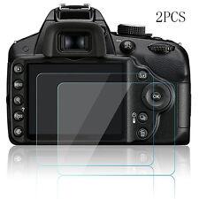 2pcs Hard Tempered Glass Screen Protector Film for Nikon D3200 D3300 D3400 Accs