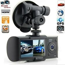 "Dual Lens Camera HD Car DVR Vehicle Video Dash Cam G-Sensor GPS 2.7"" LCD Screen"