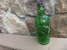 Vintage Green Poland Spring Inn Anchor Hocking Gin Whiskey Bottle Old Man Moses