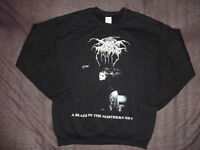 Darkthrone Dark Throne Black Metal Sweatshirt XL Emperor Immortal Mayhem