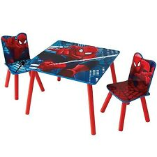 Worlds Apart Spiderman Table and 2 Chairs, Kids Activity Table and Chairs