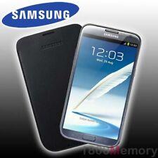 GENUINE Samsung Galaxy Note II 2 GT-N7100 GT-N7105 Leather Pouch Black Case