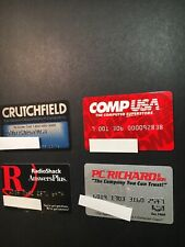 4 Expired Credit Cards For Collectors - Electronics Lot 2 (3262)