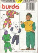 Burda Sewing Pattern 4212 Toddlers Hoodie Jacket Trousers Size 18M–5 years