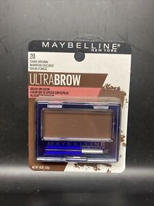 Maybelline Ultra Brow Dark Brown Brush On Powder Eyebrow Color #20