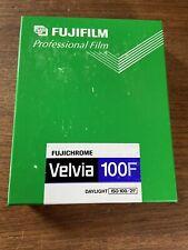 Fujichrome Velvia 100F 1 Box 50 Sheets 4X5 ISO 100 Exp.  12/2006 Always Frozen
