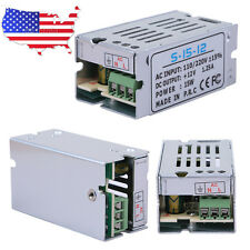 DC 12V 1.25A Universal Regulated Switching Power Supply Adapter AC 110-220V US