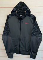 Men's NIKE Lebron Hero Therma-Fit Premium Jacket Full Zip Up Hoodie Gray Medium