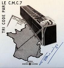 LE CMC7 PAR BULL TRI POSTAL   Yt 1490  FRANCE FDC Enveloppe Lettre 1° jour