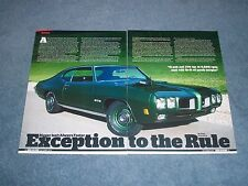 "1970 Pontiac GTO Ram Air IV Article ""Exception to the Rule"""