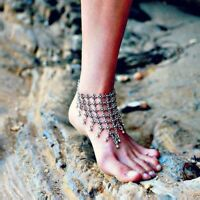 Pulsera tobillera aleacion plata envejecida Alloy Vintage Ancient Silver anklet