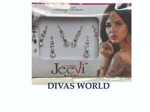 Silver Designer Fancy Bindi India Wedding Eid Perfect Bollywood Head Tikka Foreh