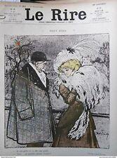 1908 HUMOUR DESSIN FAIVRE HEMARD FROID GEL CHAPEAU MANCHON SATYRE MADELEINE
