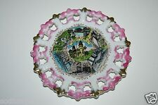 Wow Vintage Porcelain Hearst Castle Souvenir Collector's Plate Wall Hanging