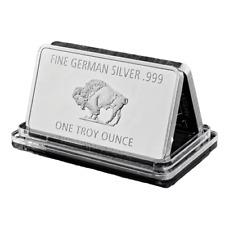 Fine Mint 1 Troy Ounce Germany Silver 999 Buffalo Plated Metal Bullion Bar Copy