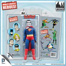 Official DC Comics Superman Bizarro 8 inch Action Figure w Mego Style Retro Card