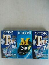 Vhs tapes Tdk other least used 240 min with movies and series Sp-4h,Lp-8h,Ep-12h