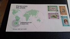 FALKLAND ISLANDS 1983 SG 450-453 COMMONWEALTH DAY FIRST DAY COVER