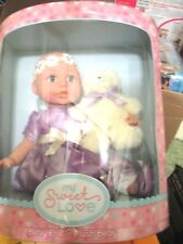 My Sweet Love Baby Doll with Plush Bear NIB