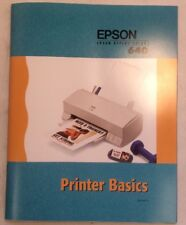 Epson Stylus Color 640 Printer Basics User Guide ElectronicsRecycled.com
