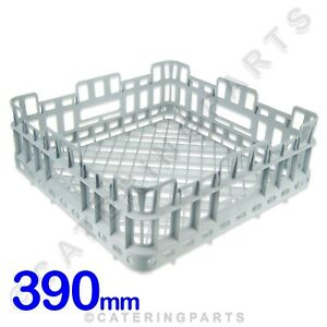 SQUARE OPEN GLASS RACK CUP BASKET 390mm X 390mm x 150mm DISHWASHER GLASSWASHER