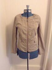 NEW Ann Taylor LOFT Petites Khaki Zip Jacket Blazer Size MP Coat Tan