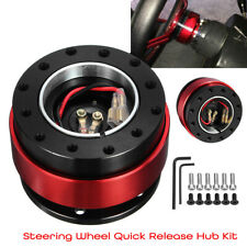 Universal Aluminum Car Steering Wheel Quick Release Hub Adapter Off Boss 6 Hole