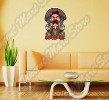 "Outlaw Western Cowboy Bandit Gun Funny Wall Sticker Room Interior Decor 20""X25"""