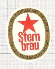 SWITZERLAND Brauerei A.Hurliman,Zurich STERN Bräu (1) beer label C1654