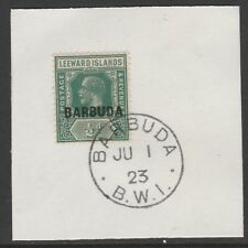 Barbuda 6067 -1922 KG5 1/2d  on piece with MADAME JOSEPH FORGED POSTMARK