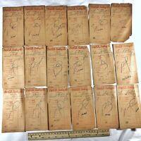 18 Authentic Antique 1940's Coca-Cola Coke Company Receipts From Old Soda Bills
