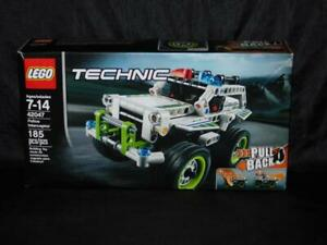 Lego Technic 42047 Police Interceptor Building Toy NEW NIB Pull Back Racer Set