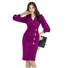 Women Design Suit Collar Evening Party OL Blazer Dress Bodycon Slim Fit Korean L